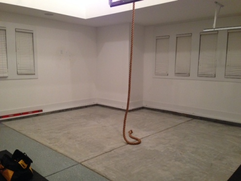 Sloped garage floor