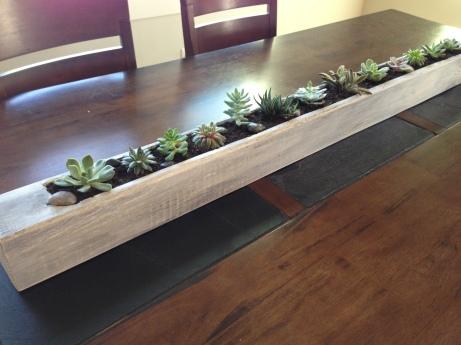 Distressed Wood Planter