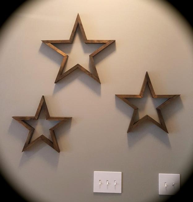 Wood Stars Wall Art